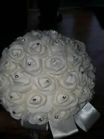 Ivory Diamante flower bouquet