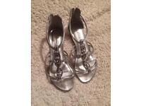 New look silver Grecian sandals