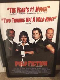 Pulp fiction poster framed
