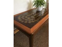 Vintage Retro Mid Century Teak and Tile Coffee Table