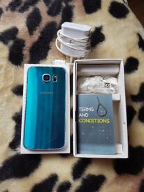 Blue samsung galaxy s6 32gb