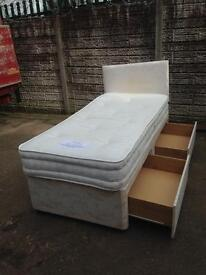 single divan bed + 2 drawers only £50 Good bargain price call now