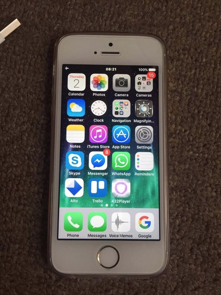 iphone 5s gold. as new apple iphone 5s gold 32gb unlocked + original headphones charger iphone