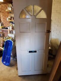 Wooden front door & lock