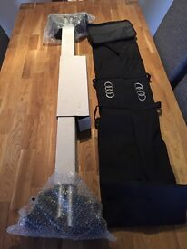 Audi Q5 Roof bars and storage bag. Brand new.