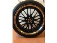 Alloy wheels tyres 5x100