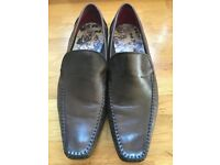 Ted Baker Mens Slip on Brown Shoes Size 10