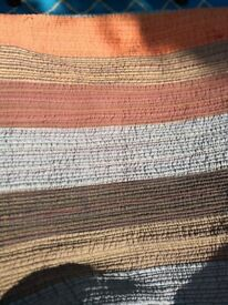 Large striped quilt