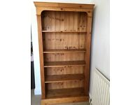 Antique pine bookcase