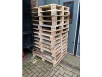 Plywood pallets as good as new + selection of other style pallets