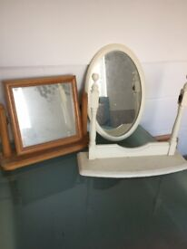 2 Modern Mirrors - For Upcycling