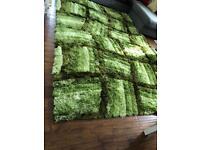 Green mix Shaggy rugs
