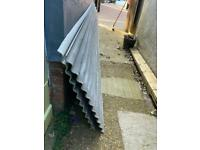 2 sheets of corrugated cement board
