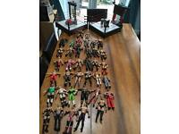 2 WWE Wrestling rings and 37 figures