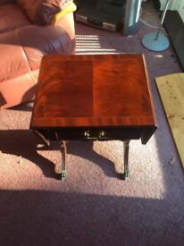 Occasional Table with fold outs and drawer