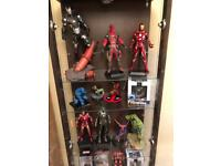 Marvel toy collection for sale with display cabinet