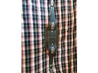 Gym leather belt