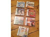 Nintendo DS games fireman Sam, Hannah Montana, professor Layton, cooking guide