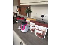 3 months worth of Juice Plus shakes plus blender and 2 bottles