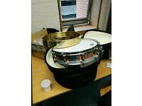 Pearl Free Floating copper snare drum 14x3.5 PLUS brass shell!