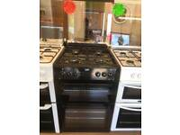 BEKO 60CM ALL GAS COOKER IN BLACK WITH LID
