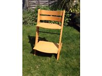Stokke Tripp Trapp Chair in Beech in good used condition, no high chair accessories