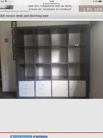 Ikea Kallax shelving unit,high-gloss grey