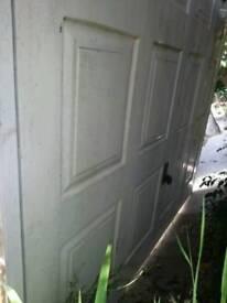 Electric up and over garage door