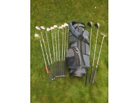 GOLF CLUBS, LEFT HANDED. Excellent hardly used Graphite clubs for sale.