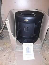 Clarke Barrel type ,Wood / Multi fuel burner , Flu pipe and accessories !