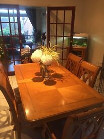 Dinning Table and chairs with matching Dresser