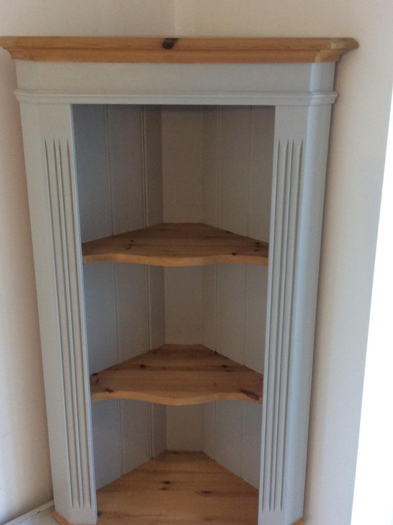 Solid pine corner wall mounted unit