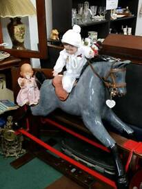 Vintage large rocking horse (garry)