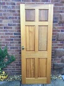 "Hardwood doors internal solid (£15) and glazed 6'6"" x 2'6""(£25)"