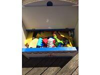 Toys & toys storage.