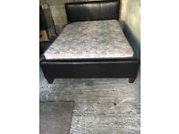Double Leather Bed with good mattress