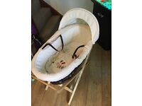 Lollipop Lane Moses basket as stand