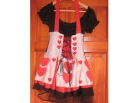 Queen of hearts fancy dress size 10/12