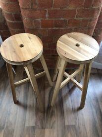 "Ikea ""Skogsta"" bar stools"