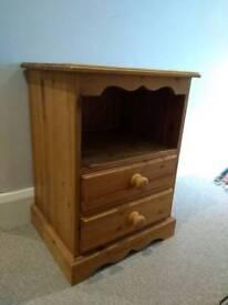Attractive pine bedside cabinet