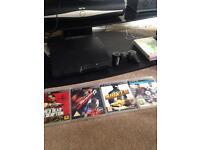 PS3 plus 4 games