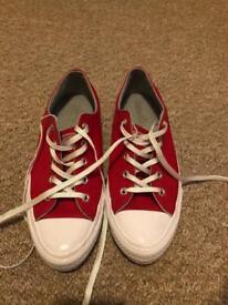 Women's UK size 6 red converse