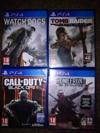 4 PS4 games for sale