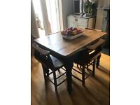 Farmhouse table & chapel chairs for Sale