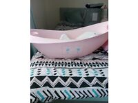Mother care baby bath with baby insert