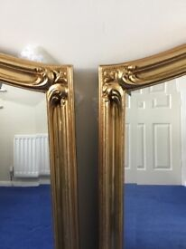 Pair of Gold Leaf Wall Mirrors