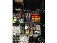 Job lot of fishing tackle match and carp gear