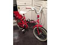Girls Bike With Rear Carrier