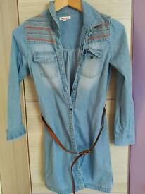 Denim dress size 11years bluezoo