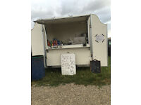 A BDS CATERING TRAILER USED FOR SELLING DONUTS HOT AND COLD DRINKS SOUP ECT REG SUNDAU PITCH